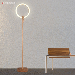 Image 4 - Nordic LED woonkamer staande verlichting Moderne vloer verlichting Acryl thuis verlichting Houten deco armaturen slaapkamer vloer lampen