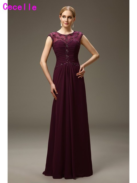 Grape Mother of the Bride Dress