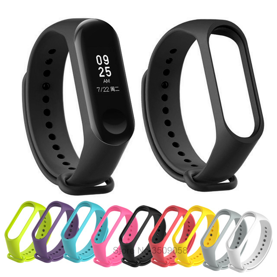 Replacement Straps Original For Xiaomi mi band 3 Silicone Wristbands Smart Band Replace Accessories For Xiao Mi Band 3