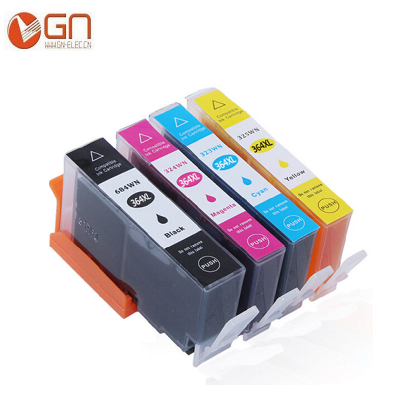 GN Remanufactured ink cartridge for <font><b>HP</b></font> <font><b>364XL</b></font> compatible for <font><b>HP</b></font> B109,B110,B209,B8550,B8553,B8558,C309,C5300,C5380,C6300 printer image