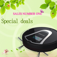 Eworld M884 Mop Robot Vacuum Cleaner for Home HEPA Filter Sensor Remote Control Self Charge ROBOT Electric Sweeper