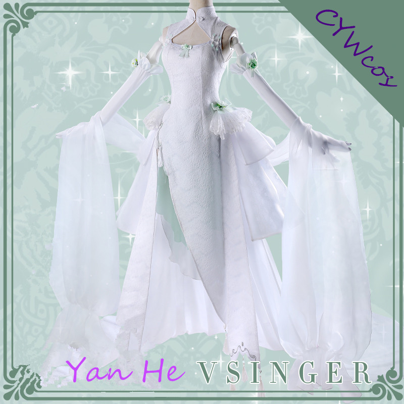 font-b-vocaloid-b-font-vsinger-yan-he-cosplay-costume-white-flower-marriage-cheongsam-wedding-dress-lolita-party-uniforms-dresses-costumes