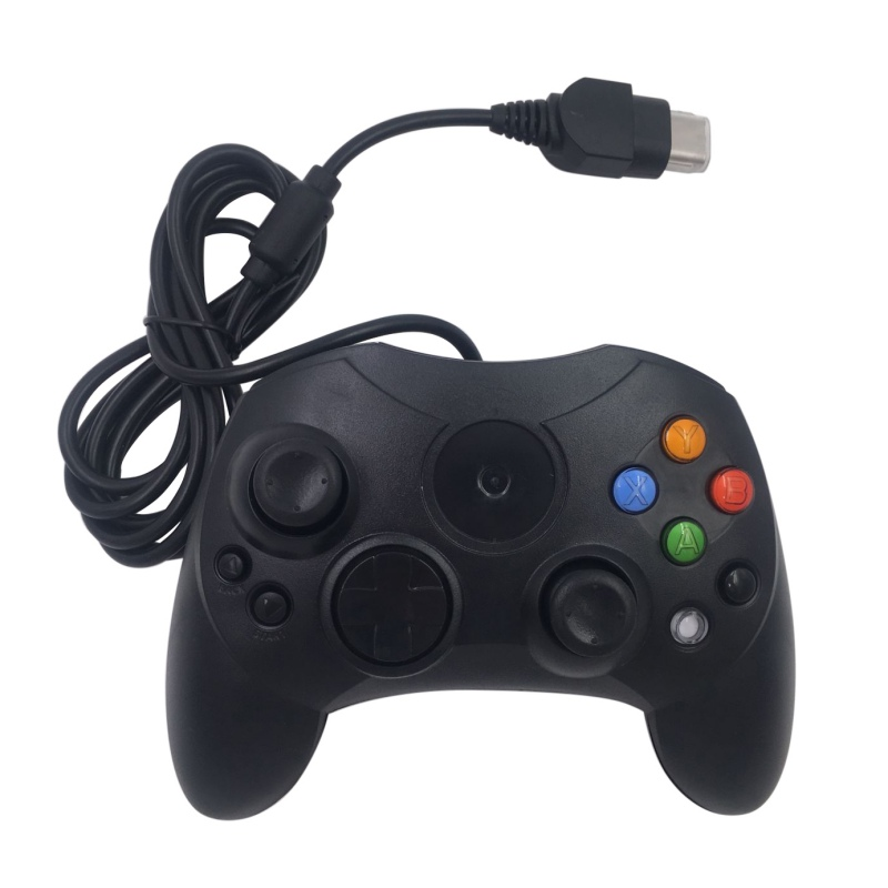 Classic Wired Joypad Controller For Microsoft Original Xbox Controller For XBOX Black Gamepad Retro Joystick Controle black white battery cover shell case kit for xbox 360 remote wireless controller joystick gamepad joypad