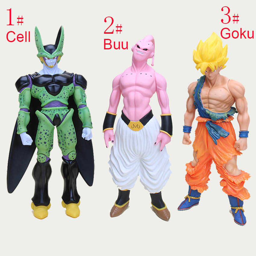 44 cm-47 cm Super Big Son Goku Dragon Ball Z Action Figure Super Saiyan Buu Celular Plástico Coleção modelo Toy Kids