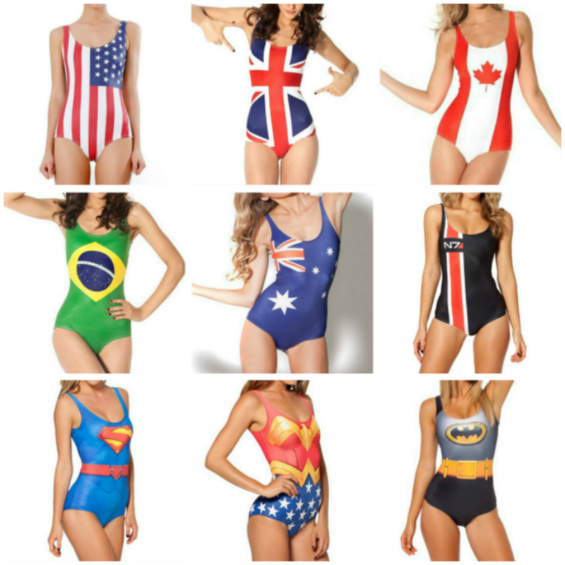 Swimsuit for Women Fashion Cosplay for the Avengers My Superhero Party for USA UK Flag Costume 3D Printed Fitness Ultra Instinc