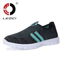LEOCI 2016 Summer Men Shoes Sport Sneakers Breathable Men Running Shoes Walking Shoes Zapatos Para Correr Chaussure Sport Homme