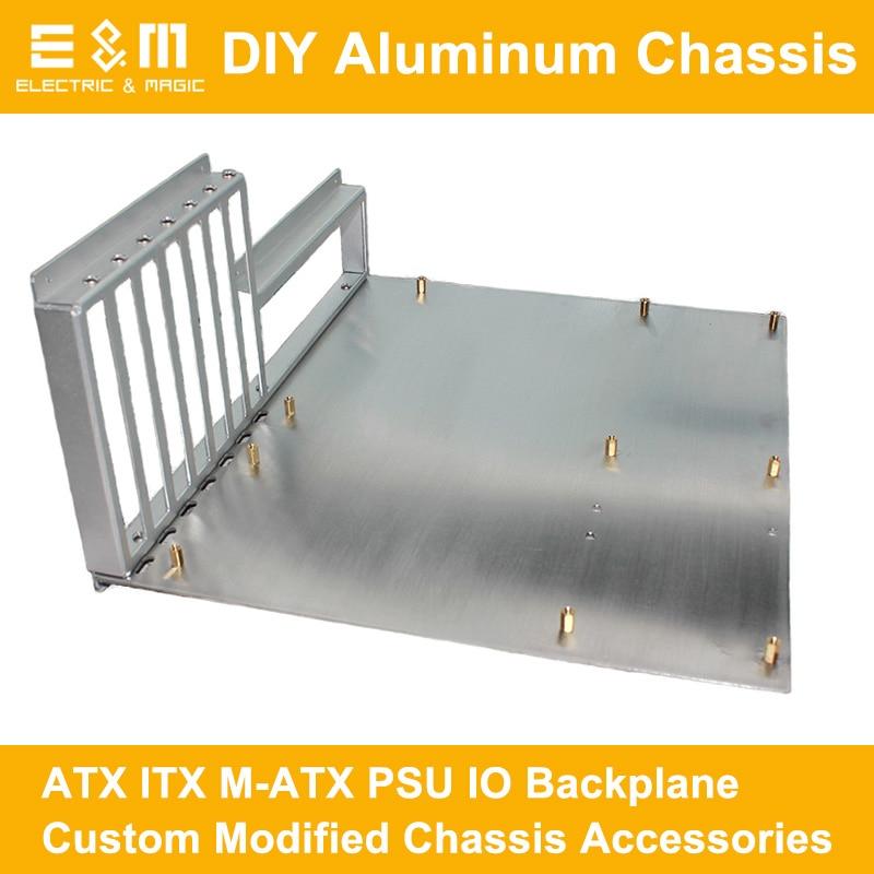 ITX ATX PC banc d'essai cadre ouvert bricolage Mod ordinateur boîtier en aluminium Base carte mère Overclock accessoires