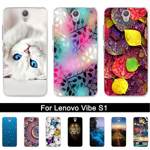 Silicone Case for Lenovo Vibe S1a40 Pint Back Phone Cover for Lenovo Vibe S1 Soft TPU Shells for Lenovo Vibe s1 a40 Fundas Coque(China)