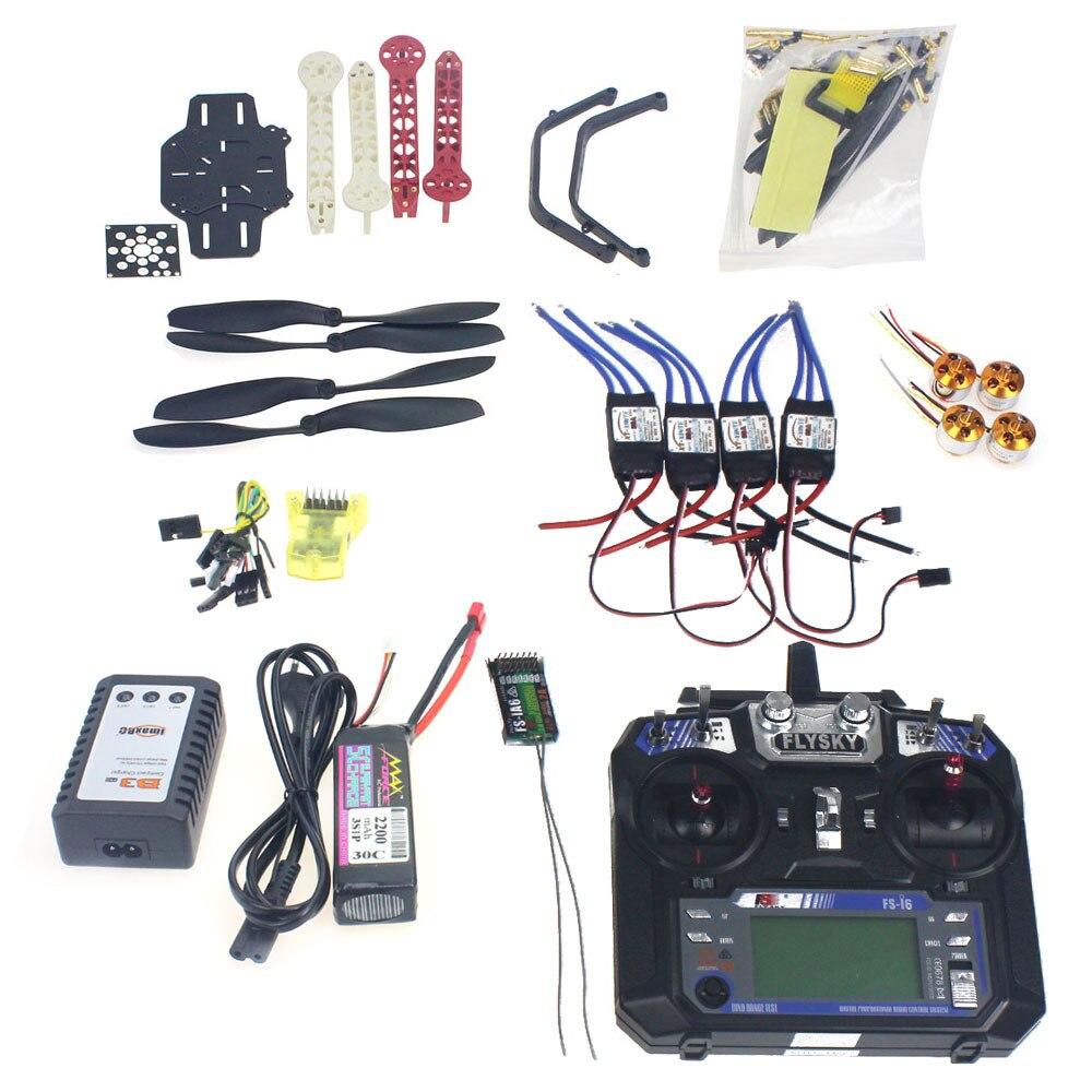 Полный набор RC Drone Квадрокоптер 4 оси самолета комплект F330 MultiCopter Рамка мини CC3D полета Управление Flysky FS i6 TX f02471 F