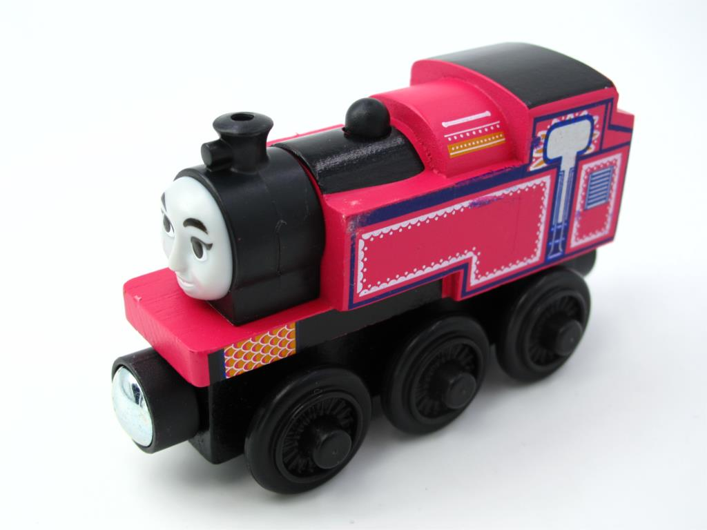 Wooden Thomas Train T005W ASHIMA Thomas And Friends Trackmaster Magnetic Tomas Truck Car Locomotive Engine Railway Toys for Boys