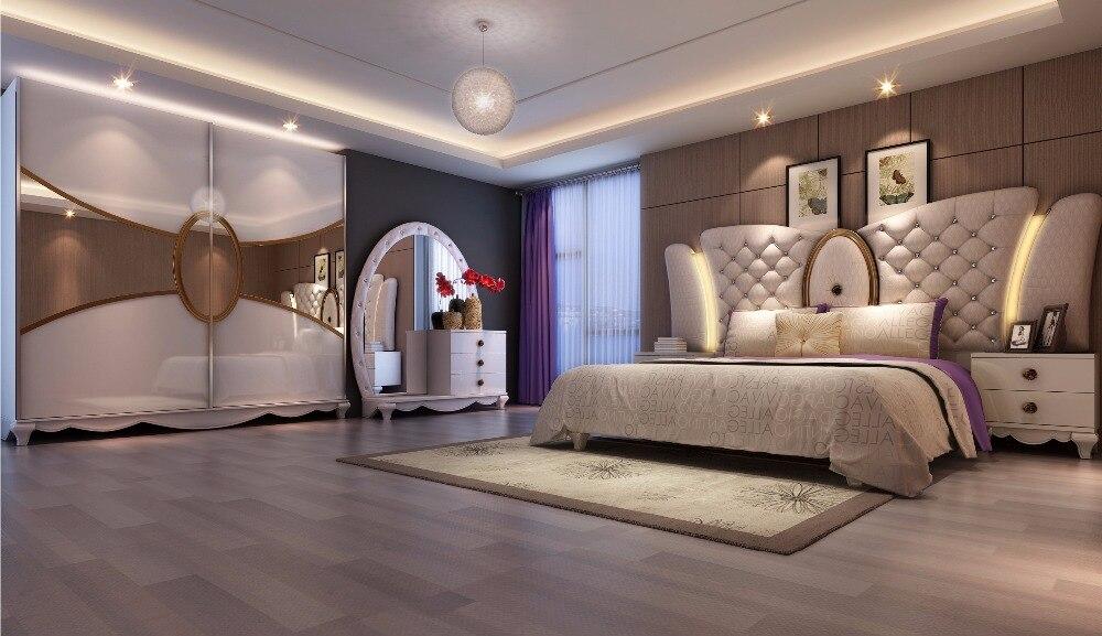 Arabische Inrichting Slaapkamer : Moderne slaapkamer met een nis boven het bed fotospecial