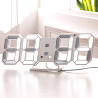 3D LED Wall   Clock   Modern Digital Table Desktop Alarm   Clock   Nightlight Wall   Clock   For Home Office 24 or 12 Hour Digital Watches