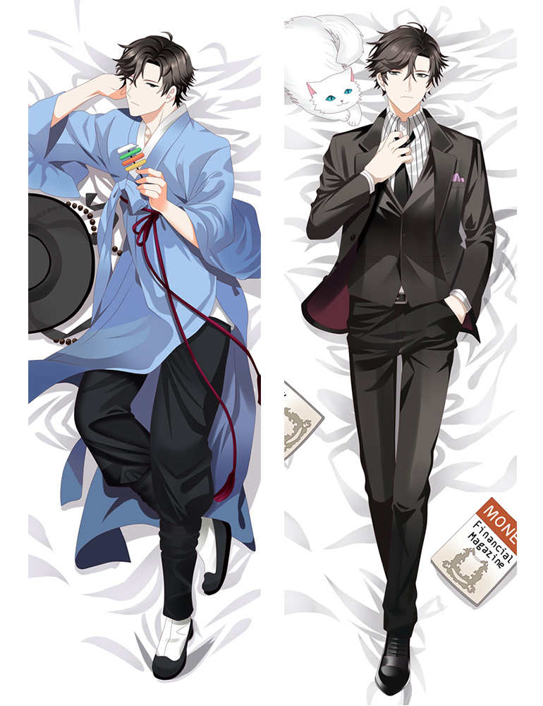 November 2016 Update Mystic Messenger Anime Characters Cool Boy Jumin Han & Zen & 707 Pillow Cover Body Pillowcase
