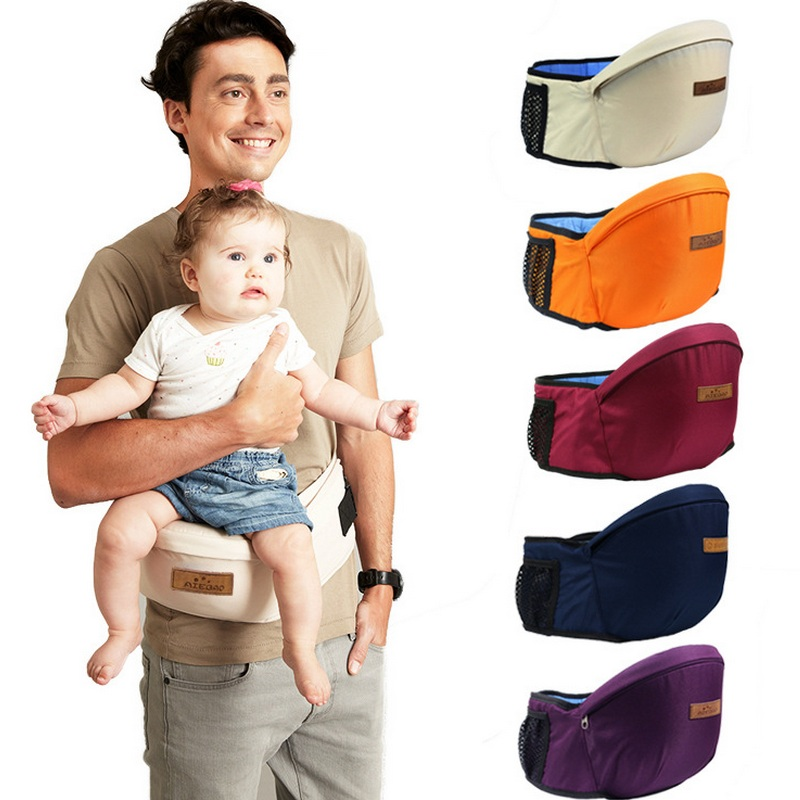 Kangaroo Baby Carrier Waist Pall Walkers Baby Sling Hold Waist Belt Ryggsekk Hipseat Belt Kids Infant Hip Seat Småbarn Barn
