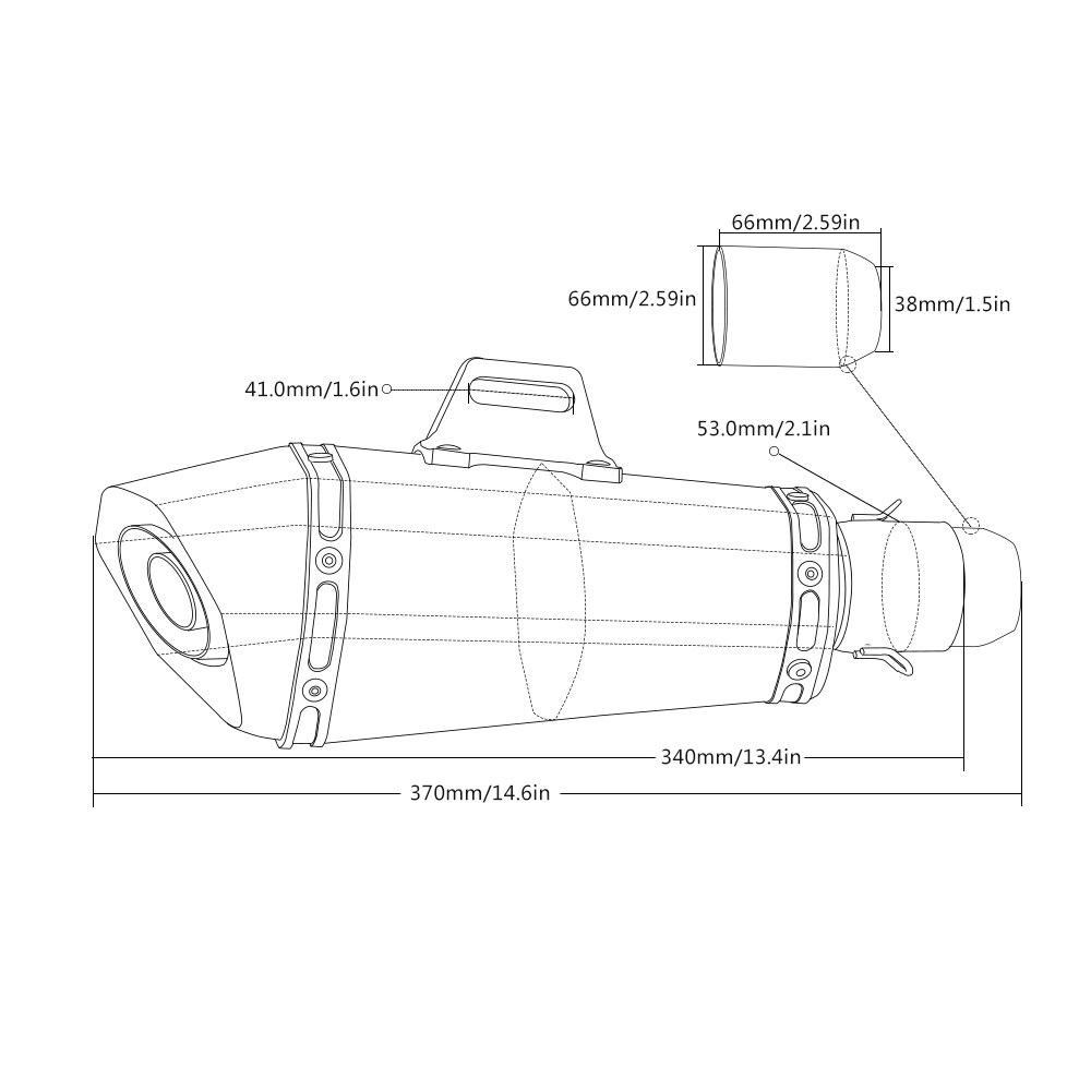 Image 5 - 36 51 مللي متر العالمي CNC للدراجات النارية موتو الدراجة العادم الأنابيب مع الخمار لسوزوكي GT250 gt 250 GSXR400 gsx 400 GT550 gt 550العادم وأنظمته   -