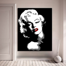 Drawing By Numbers Framework Wedding Marilyn Monroe DIY Painting Acrylic On Canvas Kits Decoration Wall Art Popular Picture