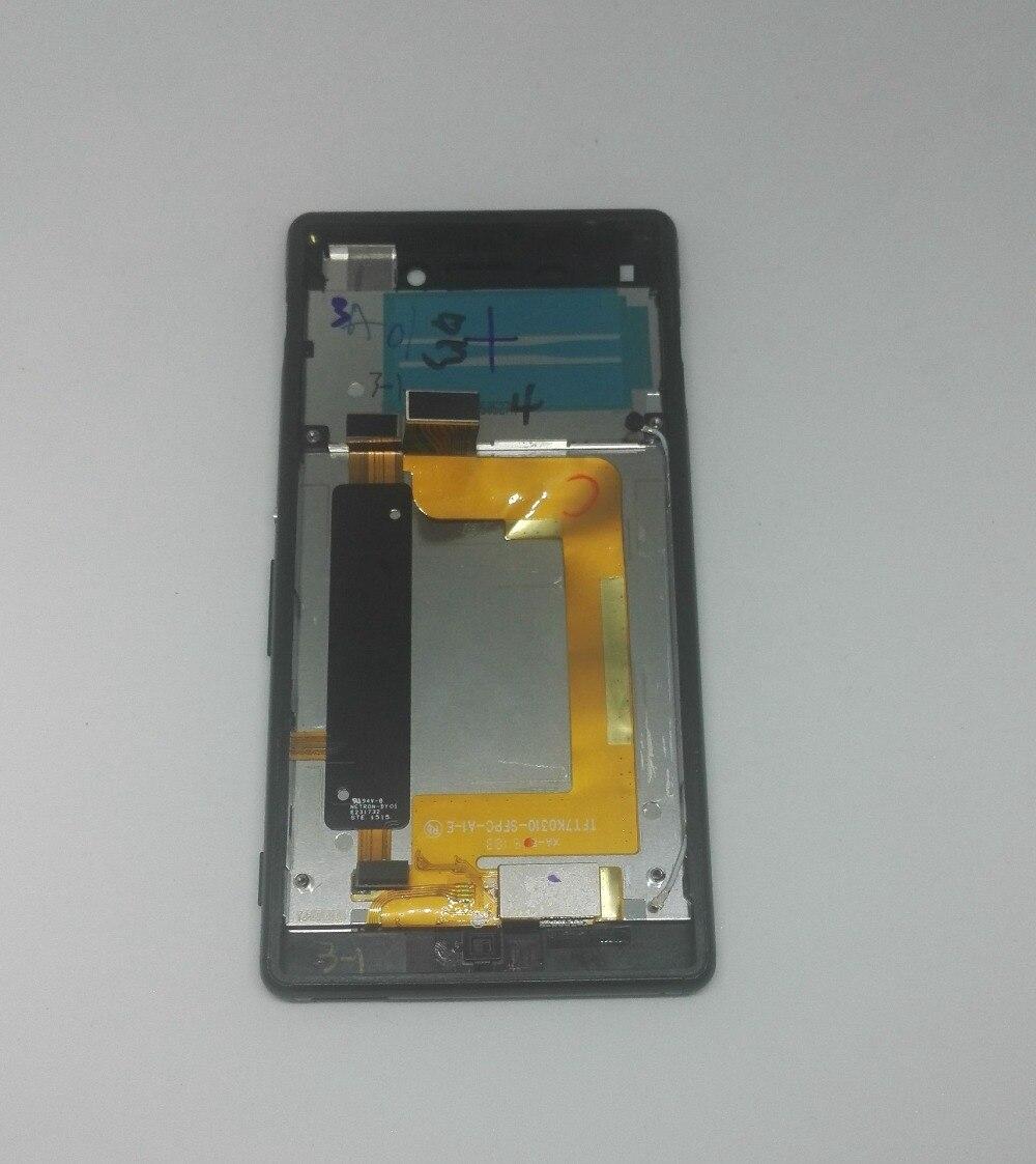imágenes para Para sony xperia m4 E2303 E2353 E2306 Digiziter Pantalla LCD Display + Touch Screen + Frame reemplazo Del conjunto