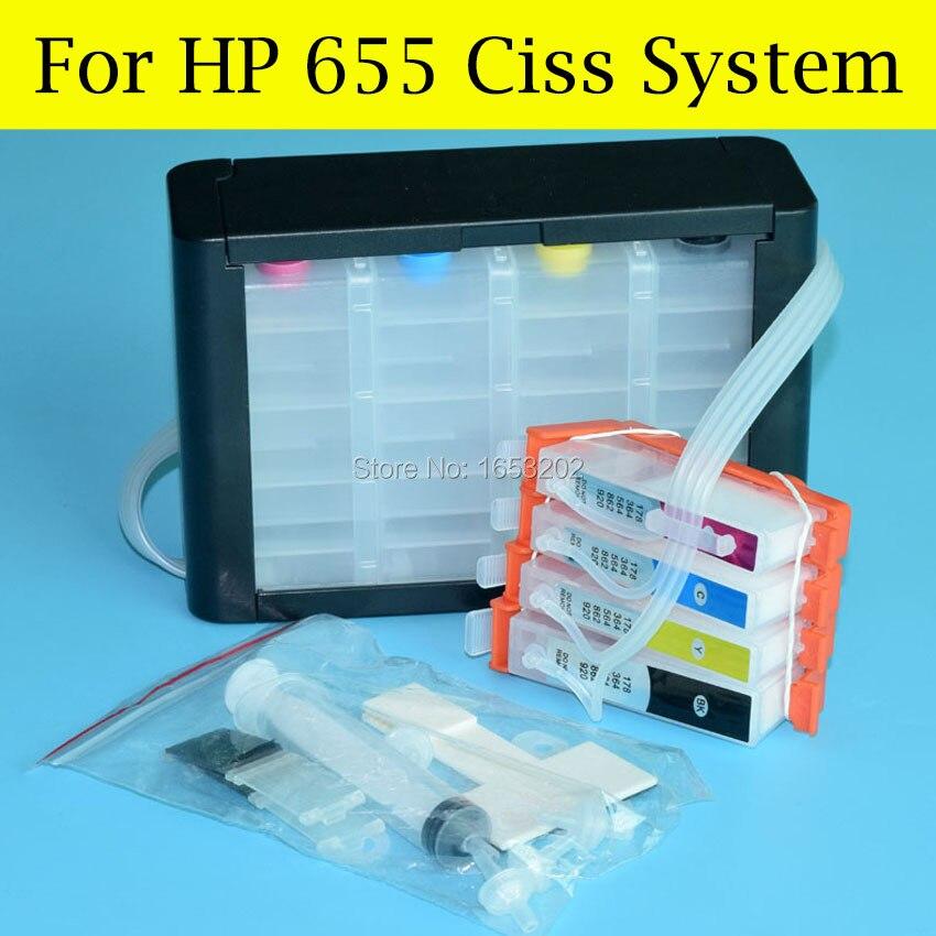 BOMA.LTD 4 rəngli CZ109AE 655 Ciss sistemi HP655 üçün HP Deskjet - Ofis elektronikası - Fotoqrafiya 5