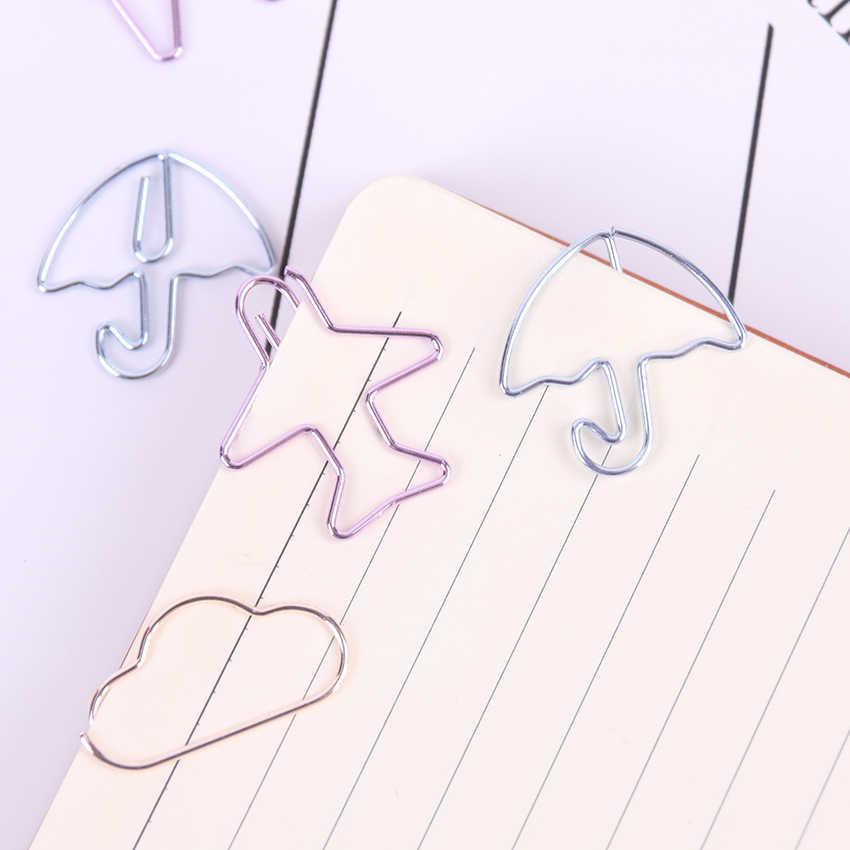 12 Pcs/lot Kartun Bentuk Mini Klip Kertas Kawaii Stationery Jelas Klip Pengikat Foto Tiket Catatan Huruf Klip Kertas Alat Tulis