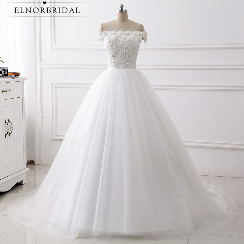 Modest Lace Ball Gown Wedding Dresses 2019 Handmade Off