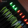 TOFOCO 3PCS Lighted Manual Glowing Archery LED lighted Arrow Nock For Compound Bow Croosbow Nock Tail Fit