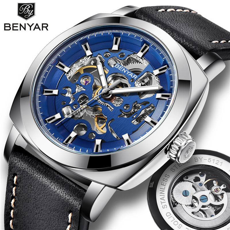 21mm Bliger 316L Solid Bracelet Stainless Steel Strap Watchband Kit 43mm Watch