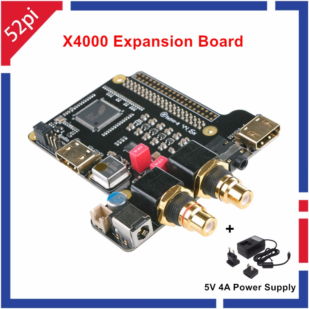 X4000 Expansion Board For Raspberry Pi 2 Model B / 3 Model B And 5V 4A Power Supply