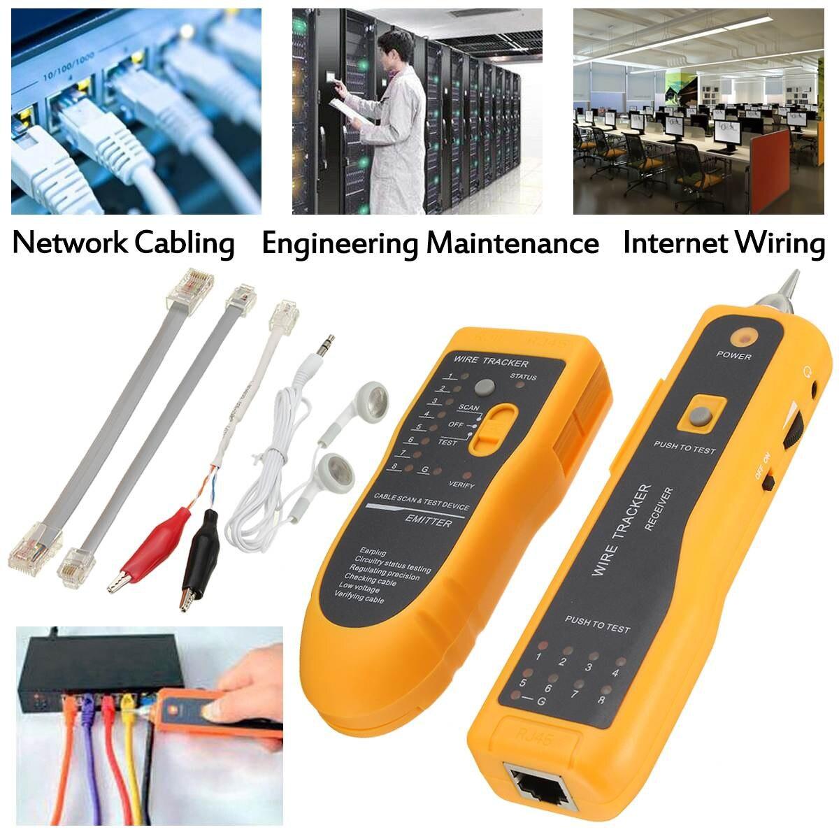 RJ11 RJ45 Telephone Wire Tracker Tracer Toner Ethernet LAN Network ...