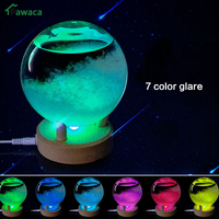 Colorful Desktop Weather Forecast Crystal Bottle Transparant Wishing Ball Storm Glass Forecast Predictor Monitors With LED