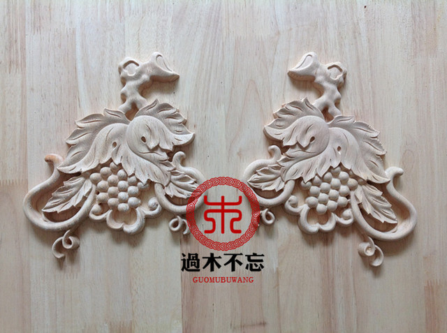 Wood dongyang wood carving grape applique corner flower gate