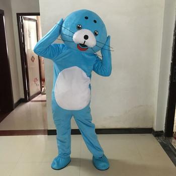 Charakter lew morski kostiumy maskotki pieczęć kostiumy w stylu Cosplay Mascotte karnawałowy kostium fantazyjny występ na scenie maskotki tanie i dobre opinie Zwierzęta i błędy Dla dorosłych Cuscosplay soft plush polyfoam cool fan helmet Guangdong China (Mainland)