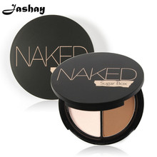 Jashay Professional Face Makeup Two-Color Bronzer & Highlighter Powder Trimming Powder Make Up Cosmetic Brand Sugar box