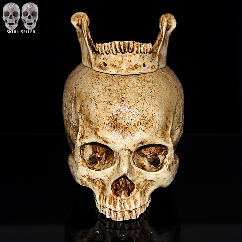 P-Flame 2016 New Human Skull Replica Resin Model Medical Realistic lifesize 1:1 Emulate Skull For Decorative Collectibles