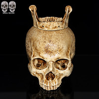 P Flame 2016 New Human Skull Replica Resin Model Medical Realistic lifesize 1:1 Emulate Skull For Decorative Collectibles