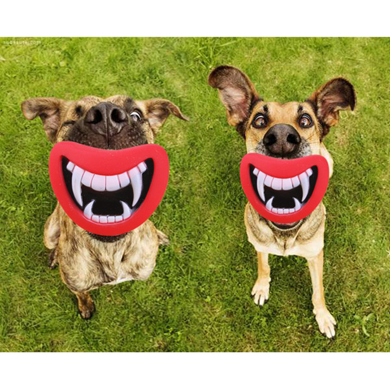 Best Small Dog Toys : New durable funny squeaky devil s lip dog toy