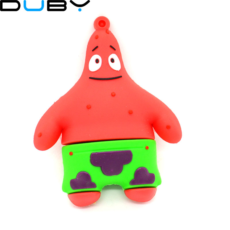 100% real capacity hot new cool Cute gift Patrick Star Patrick Star model 4gb 8gb 16gb usb Flash Drive pen pen driver