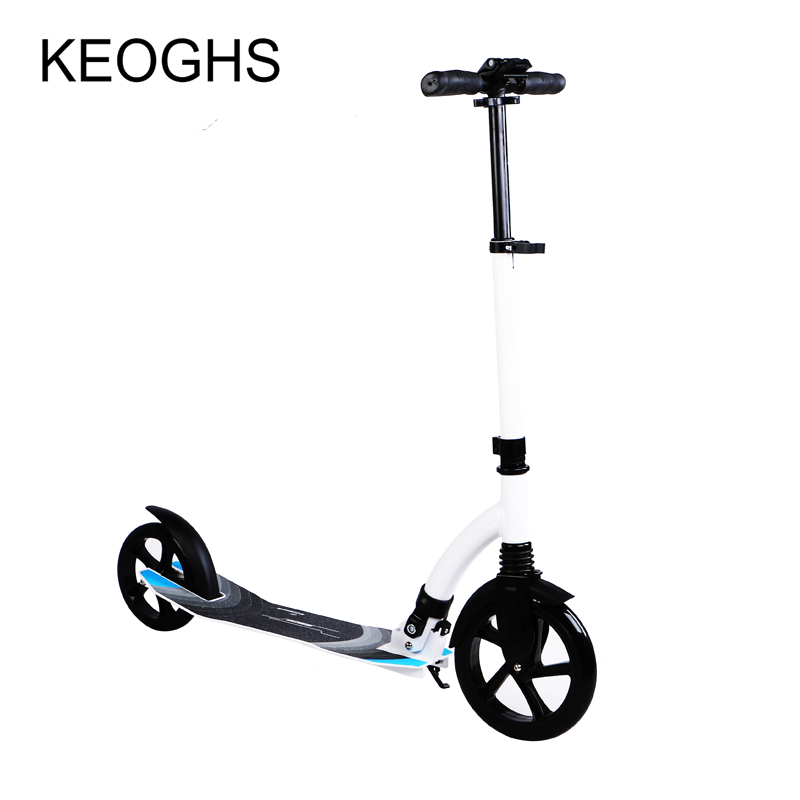 scooter for adult and childrenbaby foldable PU 2wheels bodybuilding outdoor all aluminum shock urban campus transportation