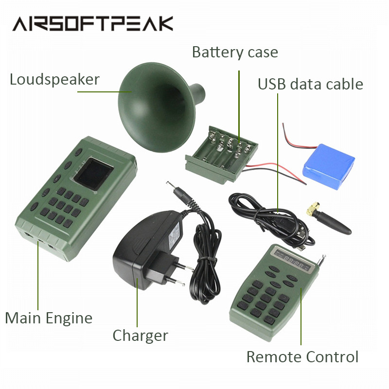 Hunting Electric Decoy Bird Caller MP3 With Remote Control Player Timer Playing Loudspeaker Electronics Bird Trap
