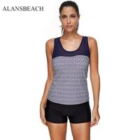 ALANSBEACH New Arrival Sports Bikini Sets 2 Pieces Tops Bottoms Bikinis For Women Top Push Up