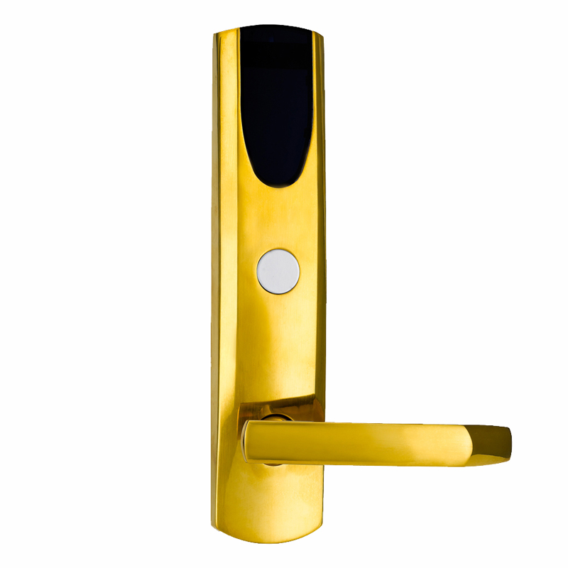 L&S Smart Electronic Card Door Lock Digital Card Key US Mortise Zinc Alloy Satin Gold L16046SG fingerprint electronic door lock smart digital touch screen keypad password card key zinc alloy l