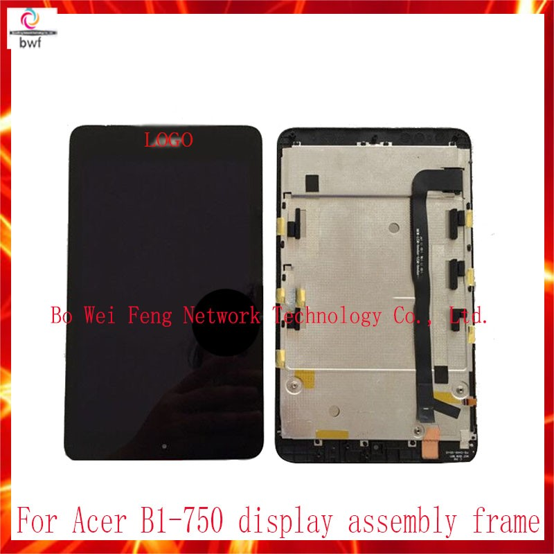 ФОТО 10Pcs/lot DHL For Acer Iconia one 7 B1-750 Digitizer Touch Screen Glass Sensor+LCD Display Panel Screen Monitor Assembly+Frame