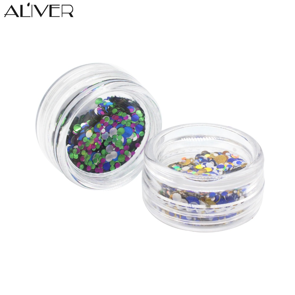 ALIVER 12 színes műanyag körömlakk csillogó por színe vegyes - Köröm művészet - Fénykép 5