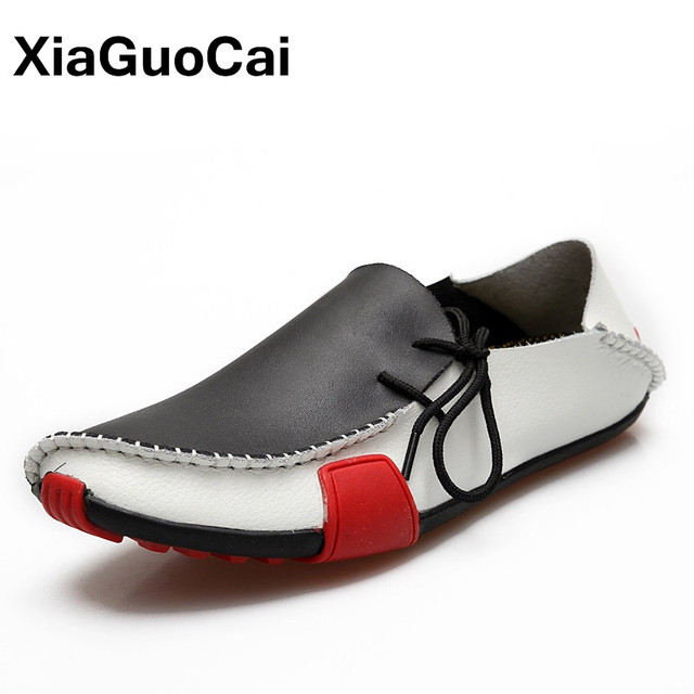 Men's Casual Oxford Leather Shoes Driving Moccasins Flats Loafers Casual Slip On