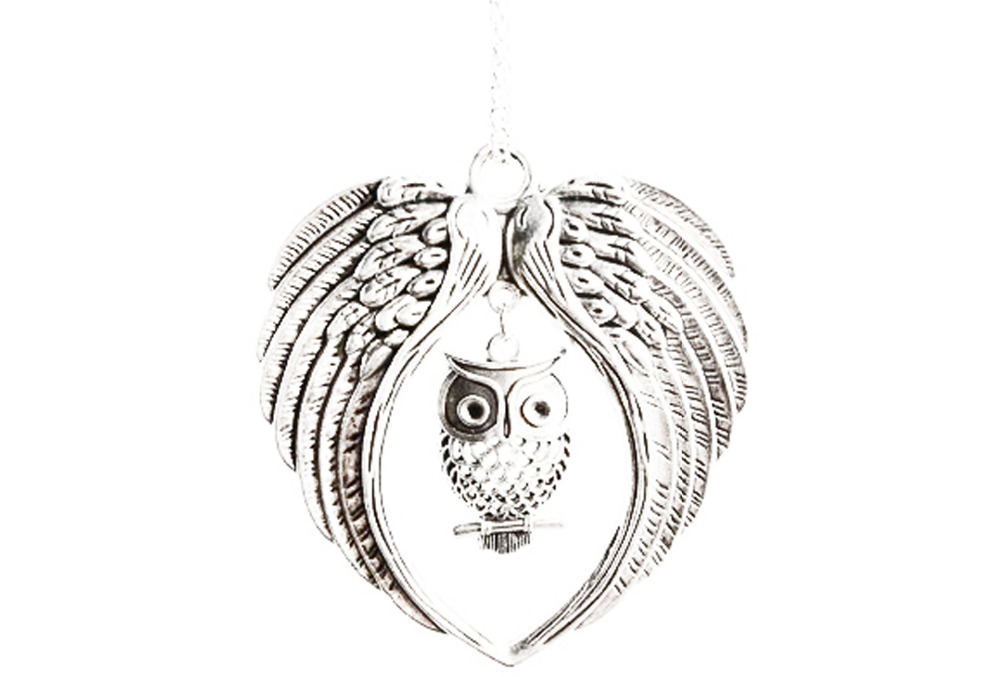 2pcs Wholesale Ancient Silver Double Angel Wings Floating Charms