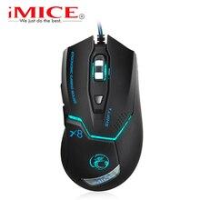 Imice проводной игровой мыши профессиональной игры Мыши 3200 точек/дюйм USB оптическая Мыши 6 Пуговицы компьютер Мыши геймер Мыши компьютерные для ПК Ноутбук X8