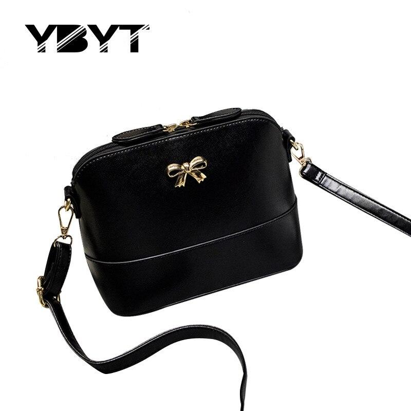 Ybyt marca 2017 nueva moda casual arco brillante mujeres shell bolsos de hotsale