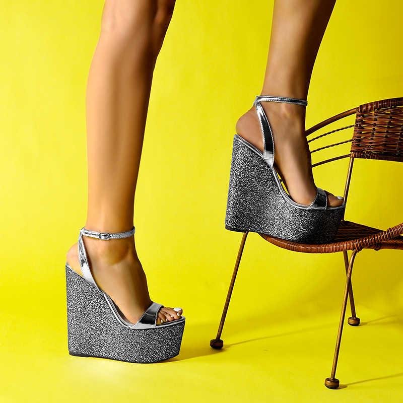 Zapatos Sinsaut sandalias de plataforma de sandalias de Mujer Zapatos de tacón alto correa de tobillo cuñas de arco iris sandalias de mujer vestido de fiesta sandalias