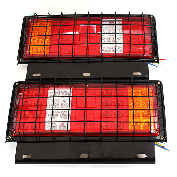 12V 32 LED Stop Rear Tail Indicator Reverse Lamp font b Light b font Trailer Truck