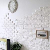 10PCS PE Foam 3D Wall Stickers Safty Home Decor Wallpaper DIY Wall Decor Brick Living Room
