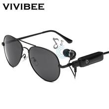 0d487506de VIVIBEE Aviator Men Sunglasses with Music Earphone 2019 Trend Polarized  Bluetooth